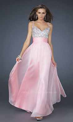 Floor Length La Femme Prom Dress at PromGirl.com