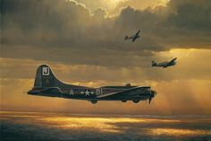 William S. Phillips - When Prayers are Answered. William is a accomplished artist who's WWII aviation art is bar-none.Actually, His ART is Bar-none! B 17, Ww2 Aircraft, Military Aircraft, Royal Jordanian, Aircraft Painting, Airplane Art, Air And Space Museum, Ww2 Planes, Aviation Art