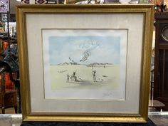 Just in to our antiques mall is a wonderful large Salvador Dali lithograph both pencil signed and hand embellished. This example happens to also be the more rare artist proof. Come see it for yourself at Gannons Antiques Salvador Dali, Come And See, Mall, Pencil, Antiques, Frame, Artist, Decor, Antiquities