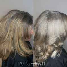 These 6 Holistic Hair Stylists are Helping Women Embrace Their Grey Hair Grey Hair Dye, Long Gray Hair, Dyed Hair, Gray Hair Growing Out, Grow Hair, Short Hairstyles For Women, Pretty Hairstyles, Scene Hairstyles, Grey Hair Video