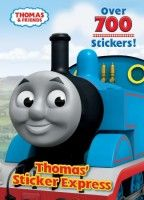 """""""Thomas' Sticker Express"""" I think this is a book Niko has, but with a different cover. There are totally over 700 stickers and a ton of coloring/activity pages. His book has stickers of train tracks, trains that line up on the tracks, signal boxes, bushes, tunnels, etc to make various play scenes. It was a GREAT buy."""