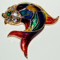 Calico Fish Pin