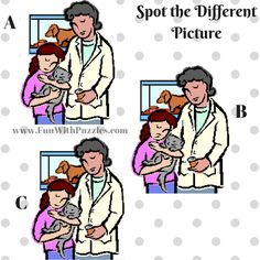 Spot The Different Picture Puzzles-Pet Doctor