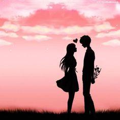 ideas romantic fantasy art couples romances for 2019 Cute Couple Drawings, Cute Couple Art, Love Drawings, Love Cartoon Couple, Anime Love Couple, Cute Anime Couples, Love Wallpapers Romantic, Silhouette Art, Couple Silhouette