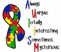 I wanted to help bring autism awareness to the every day general public. One out of 50 children are born with autism. Education is vital and support is even more important. Here you will find tons of information as well as others who have children with au