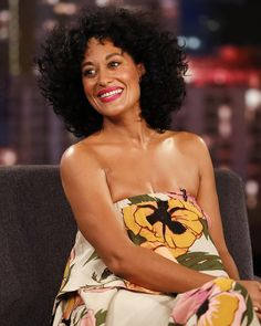 """""""I absolutely LOVED this @Tracy_Reese strapless floral dress that I wore on @JimmyKimmelLive last week!  #blackish"""""""
