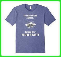 Mens You Can Retake A Class Funny Beer T-Shirt 2XL Heather Blue - Food and drink shirts (*Amazon Partner-Link)