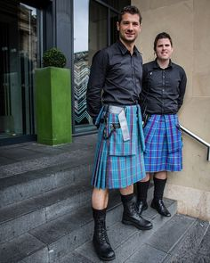"""The G & V Kilties on Flickr. Alternate wear for a """"day plaid""""?"""