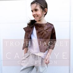 Pattern and Tutorial Sewing Patterns For Kids, Cali, Boy Or Girl, Joggers, Kids Fashion, Couture, Boys, How To Make, Jackets