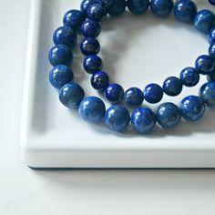 Lapis lazuli bracelet - 8mm or 10mm gesmstones Lapis Lazuli Bracelet, Cleaning Silver Jewelry, Bead Shop, Blue Gemstones, Minimalist Jewelry, That Way, Gifts For Him, Sterling Silver Jewelry, Wedding Jewelry
