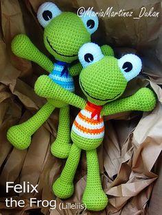 Lilleliis Felix the frog, FREE pattern // Patrón gratis #Amigurumi #Crochet #Lilleliis