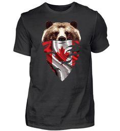 BEAR Vintage Patriot kanada T-Shirt Basic Shirts, Bear, Vintage, Mens Tops, Fashion, Canada, Moda, Fashion Styles, Bears