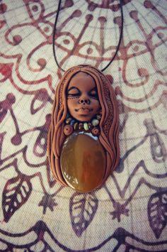 Carnelian Mystic Necklace . Shaman Magic . OOAK . by TRaewyn