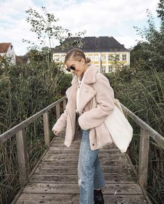 Light Before Dark Oversized Faux Sherpa Zip Up Jacket To