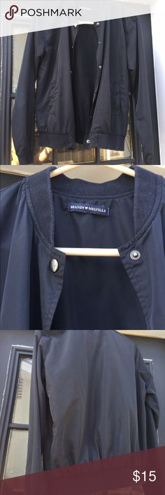 BRANDY BOMBER JACKET simple black with buttons bomber jacket. some wear. Brandy Melville Jackets & Coats