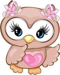 Baby Animal Drawings, Cartoon Drawings, Easy Drawings, Owl Clip Art, Owl Art, Cute Owl Cartoon, Bird Template, Owl Pictures, Baby Art