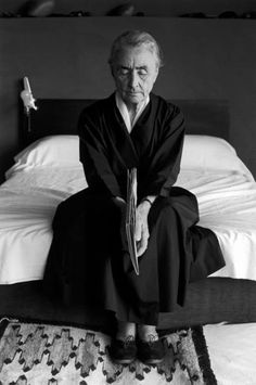 """""""Embody Your wisdom"""" Seated in perfect symmetry-small book of wisdom. Find a robe? (Photo of Georgia Okeefe)"""