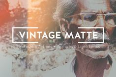 VINTAGE MATTE PHOTOSHOP ACTIONS by CloverAndCrow on Creative Market