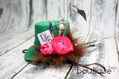 Mini Top Hat Mad Hatter Style Headband Tea by MistyDaysBoutique
