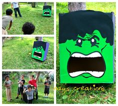 Games at a Superhero Party #superhero #partygames