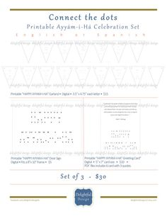 Party invite bahai holy days celebrations pinterest cards remember the popular game connect the dots you children will have a blast making their fandeluxe Choice Image