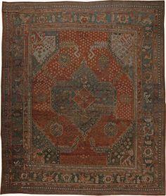 Oriental Rugs: Oriental Rug, Antique Persian Rug, red rug