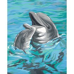 """Dimensions Paint Works Paint By Number Kit 9""""X12""""-Dolphin Duo"""