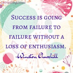 "A poster with the quote ""Success is going from failure to failure without a loss of enthusiasm."" by Winston Churchill"