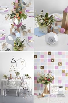 knot and pop geometric wedding style shot by style slicker - Read more on One Fab Day: http://onefabday.com/knot-pop-wedding-stylists/