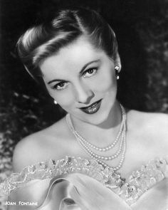 In memory of Joan Fontaine - born on October 22, 1917 Tokyo, Japan - her birth name is Joan DeBeauvoir de Havilland - she died on December 15, 2013 at age 96