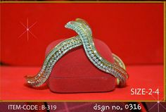 AD jewelery with 1 gram gold polish.  Size:2.4, 2.6 & 2.8 available.  Price : rs. 2300/-  Free shipping in India.