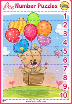 FREE Number Puzzles - Preschool Printables for Kids - Learning Numbers, Counting - Fun Math Activities and Worksheets for Homeschooling, Kindergarten and Grade 1 - by BonTon TV Number Puzzles, Puzzles For Kids, Free Preschool, Preschool Printables, Numbers For Kids, Numbers Preschool, Abc Crafts, Fun Math Activities, Learning Numbers