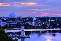 Daily Disney: Sunrise on Disney's Beach Club by Express Monorail, via Flickr