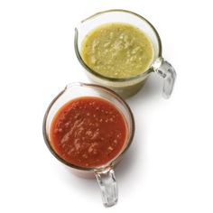 You will find a million things to dip into this juicy, spicy, classic salsa. Recipe: Green or Red Salsa   - Delish.com