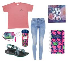 """""""Hey guys! I'm your new tipper on preppy little girls! My tip for you guys is too start with basic shirt and jeans and then out patterned accessories such as Lilly Pulitzer items to create a fun preppy look."""" by preppylillygirls ❤ liked on Polyvore featuring G-Star, Chaco and Lilly Pulitzer"""