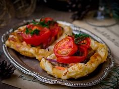 Salmon and Tomato Puff Pastry