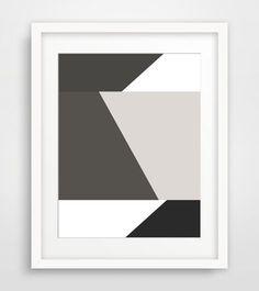 Black White Geometric Print, Modern Geometric Wall Art, Minimalist Home Decor, Printable Geometric Art, Print Art