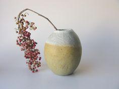 Shino Takeda vase - yellow