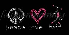Peace Love Twirl Baton  You choose 1 color by FashionMommyBoutique, $13.00