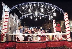 Nighttime Christmas Parade Floats | float carrying members from the Children's Dance Theatre cast of ...