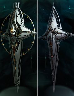 "concept ships  (reminds me of Boba Fett's ""SLAVE 1"" bounty hunter ship from STAR WARS.)"