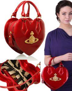 red Vivienne Westwood Chancery heart handbag
