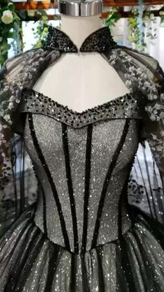 Ostty Wedding Dress Customized All the display wedding gowns, party dress can be customized by your personal size. For more details, please contact e-m. Quince Dresses, Prom Dresses, Dress Prom, Elegant Dresses, Pretty Dresses, Winter Ball Dresses, Black Wedding Gowns, Luxury Wedding Dress, Fantasy Gowns