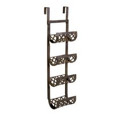 IMAX 10819 Urban Iron 3-Bottle Wine Rack For Wall or Door $49.80. To be spray painted white and used as towel rack in #bathroom