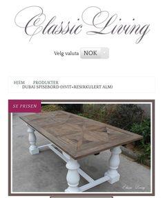 Dubai Spisebord 10900kr #classicliving #spisebord #interiør. For mer informasjon se www.classicliving.no