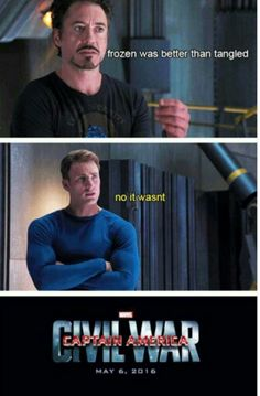Meme Watch: These Captain America: Civil War Memes Explain Why They Fight - Funny Team Shirts - Ideas of Funny Team Shirts - 'Captain America: Civil War' has already spawned a meme starring Iron Man being wrong and Captain America ready to flip tables. Avengers Humor, Marvel Jokes, Funny Marvel Memes, Dc Memes, Marvel Comics, Thanos Avengers, America Memes, America Movie, Funny Memes