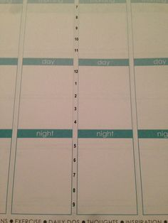Super-skinny repositionable time sticker for Erin Condren Life Planner on  Etsy, $3.75