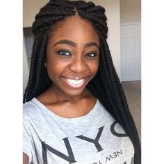 I LOVE Box Braids ! Natural Hair Tips, Natural Hair Journey, Natural Hair Styles, Twist Box Braids, Short Box Braids, Pretty Hairstyles, Braided Hairstyles, Faux Loc, Protective Hairstyles