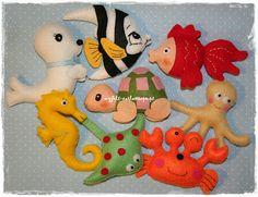 My Felt: Animais marinhos em feltro...