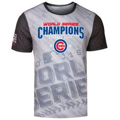 51dc7b08b Chicago Cubs 2016 World Series Champions Repeat Diagonal Tee World Series